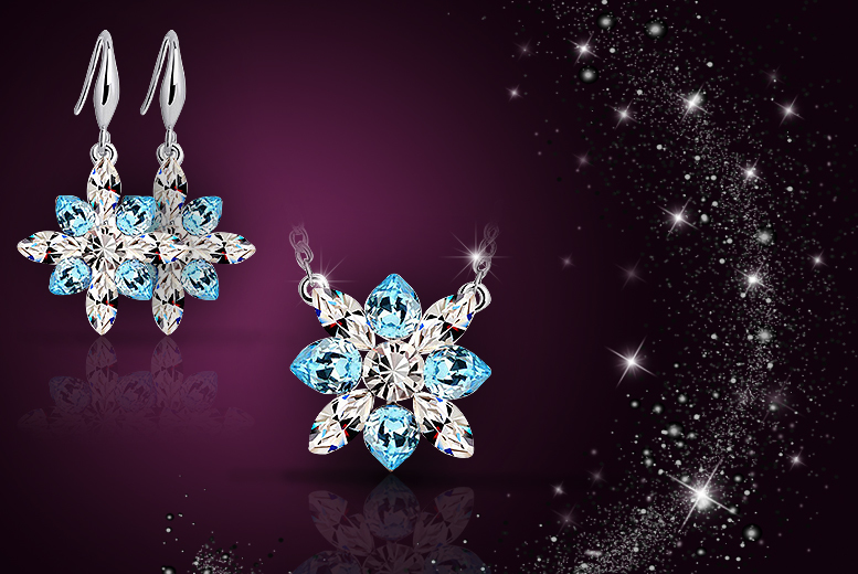£9 instead of £49.99 (from Simply Jewellery) for a snowflake necklace made with Swarovski Elements , or £12 inc. matching earrings - save up to 82%