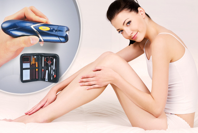 £11.99 instead of £19.99 (from Good Ideas Online) for an epilator and a 13 piece manicure kit - save 40%