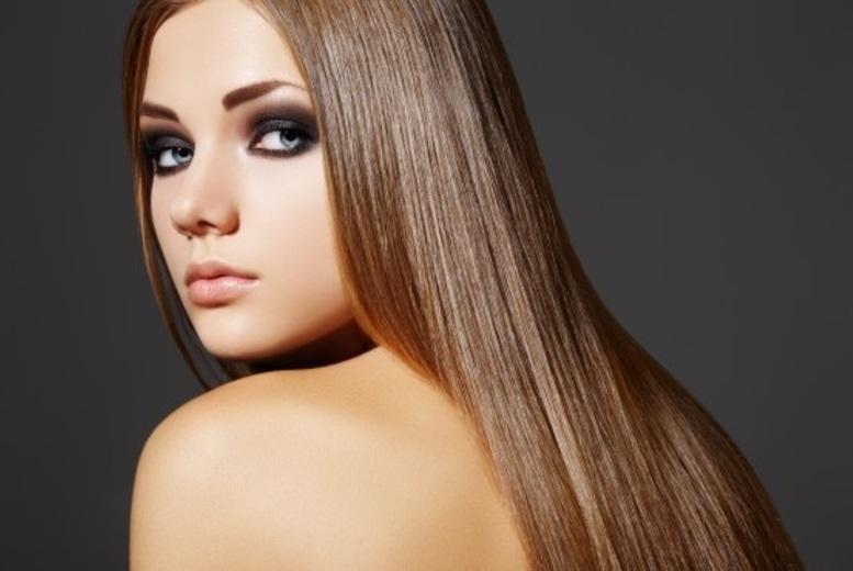 "£59 for 150 strands of 14"" micro ring human hair extensions, £79 for 16'' or £99 for 18'' at Purple Rose Salon, Strawberry Hill - save up to 76%"