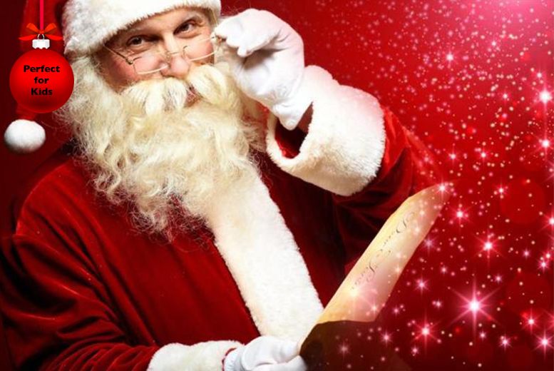 £1.99 instead of £14.95 (from The Santa Video) for a personalised Santa video - prove Santa exists and save up to 87%