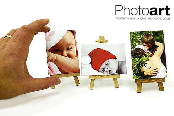 £13.99 instead of £39.98 for 2 miniART Desktop Canvases & 2 Easels from Photo Art Warehouse – get borrower-sized art & save 65%