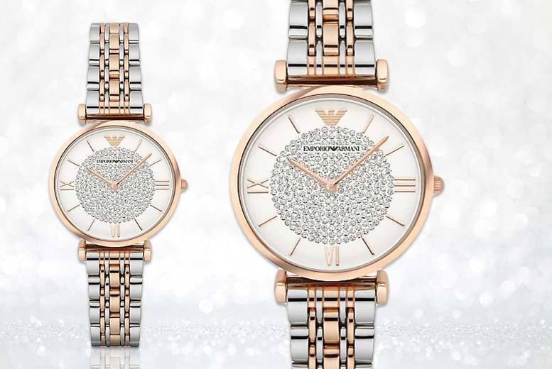 £139 instead of £342.01 (from Gray Kingdom) for an elegant Emporio Armani AR1926 watch - gift yourself with some glitz and save 59%