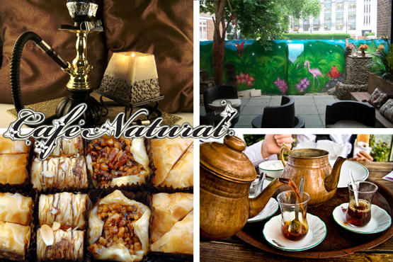 £9.99 instead of £20 for an Afghan Afternoon Tea for 2, inc. tobacco-free shisha, traditional tea and Baklava at Cafe Natural, Camden – save 50%
