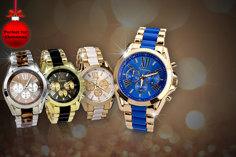 £12 instead of £99 (from Alvi's Fashion) for a luxury Geneva watch - pick from 4 colours & save 88%