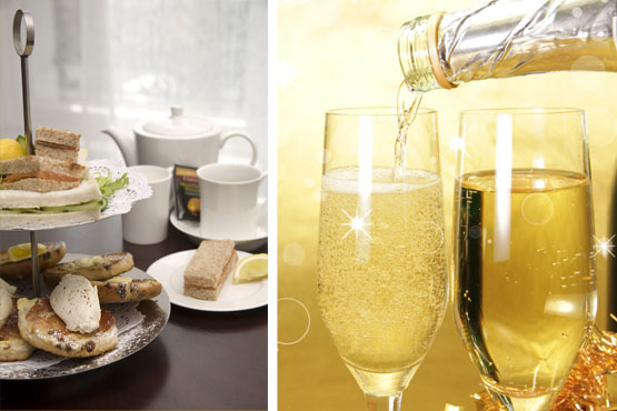 £29.50 instead of £70 for an afternoon tea for two with sparkling wine at Squares at The Royal Trafalgar Thistle Hotel – save 58%
