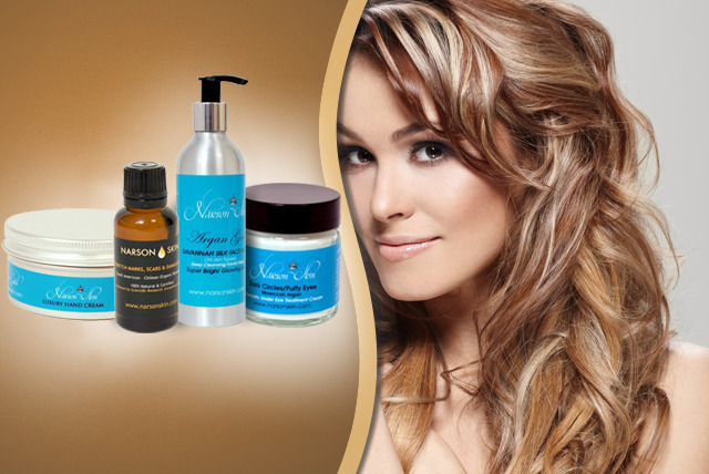 £9 for a £30 voucher to spend on Moroccan argan oil skincare and haircare products from Narson Skin - save 70%