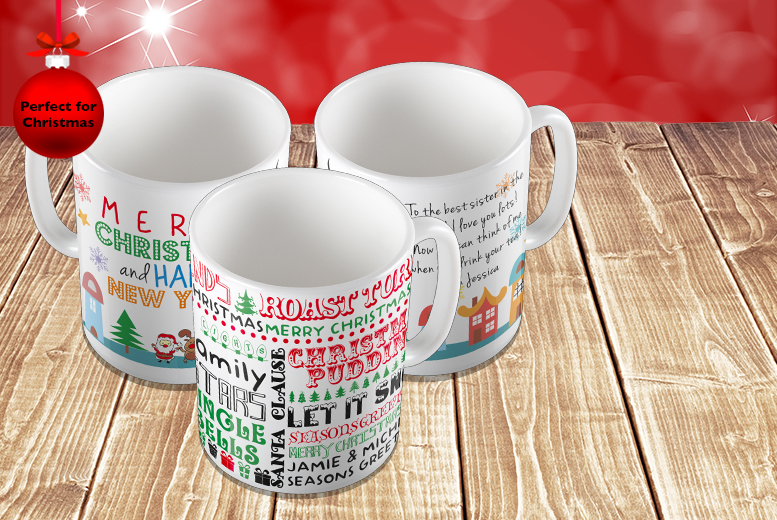 £5.99 instead of £10.99 (from Colour My Wall) for a personalised Christmas mug - save 45%