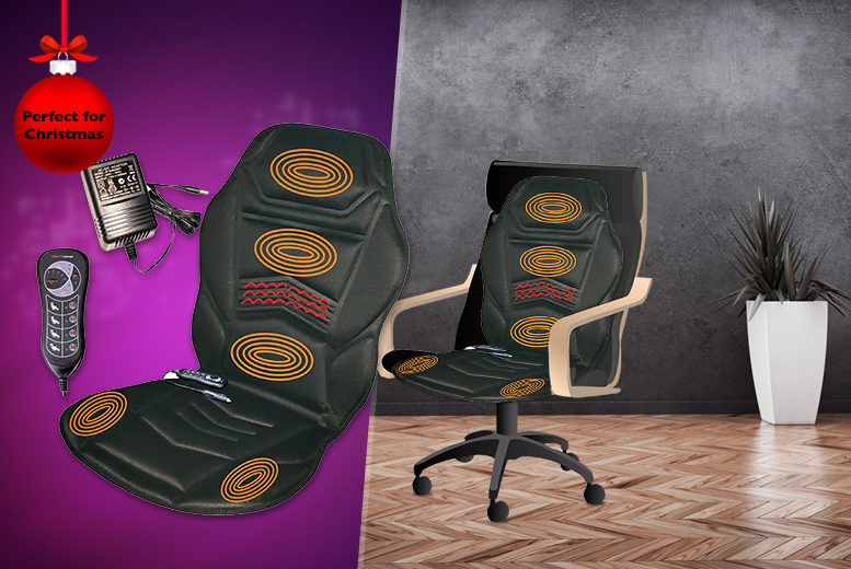 £24.99 instead of £75 (from Zoozio) for a heated massage cushion and remote - save a super-soothing 67%