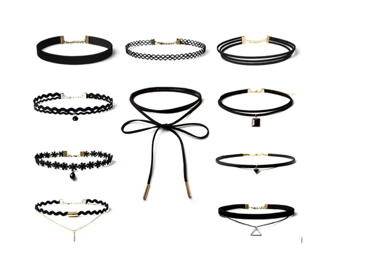 £12.99 instead of £49.99 for 10 chokers in different designs from Big Group Enterprises Limited - save 74%