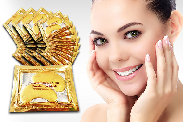 £4.99 instead of £79.01 (from Forever Cosmetics) for a set of 40 'crystal' gold collagen eye masks - treat your peepers and save 94%