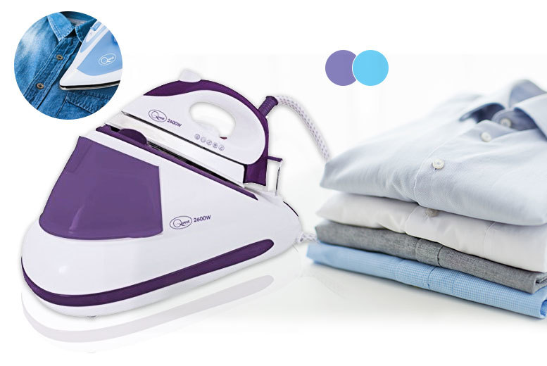 Groundlevel 2600W Steam Generator Iron (Purple/Blue)