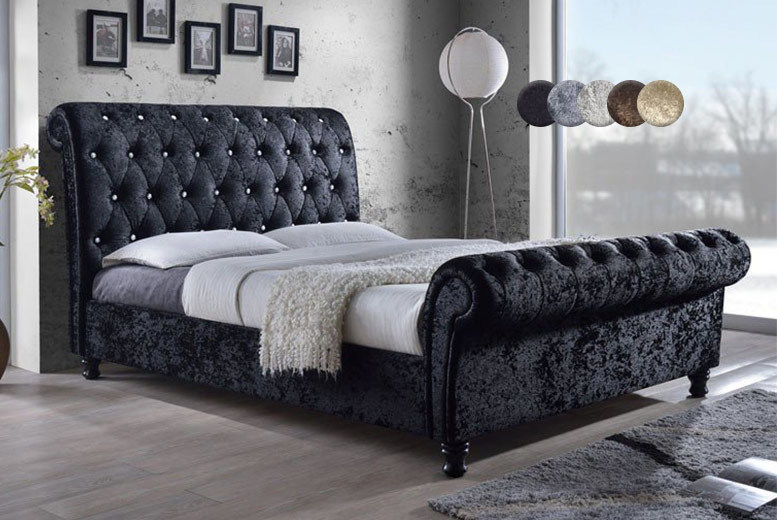 £269 instead of £579.01 (from FurniStop) for a double Chesterfield bed frame, king for £299, super-king for £349, upgrade to include a mattress from £369 - save 54%