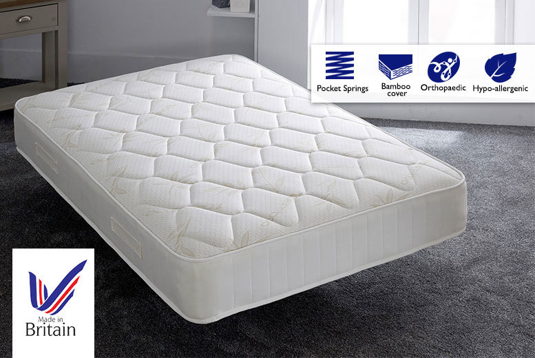 Golden Bamboo 2000 Pocket Memory Mattress
