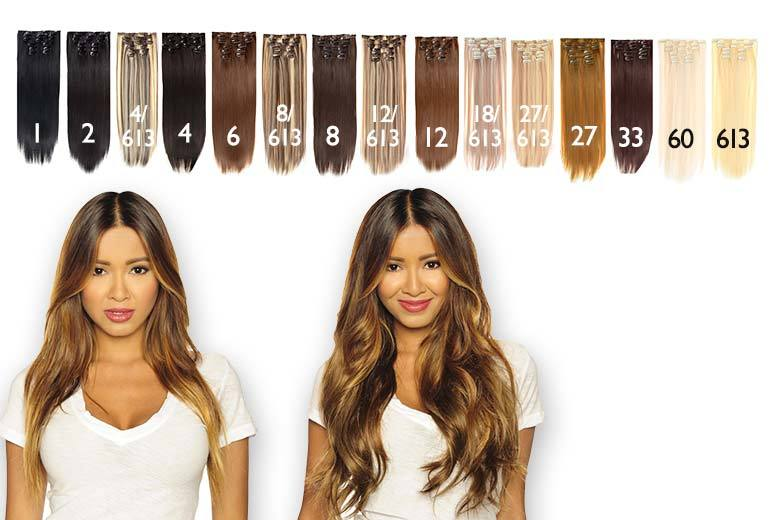 "£22 instead of £210.08 (from Chainz Accessories) for a seven-piece 22"" clip-in hair extensions set – choose from 10 stunning styles and save 90%"