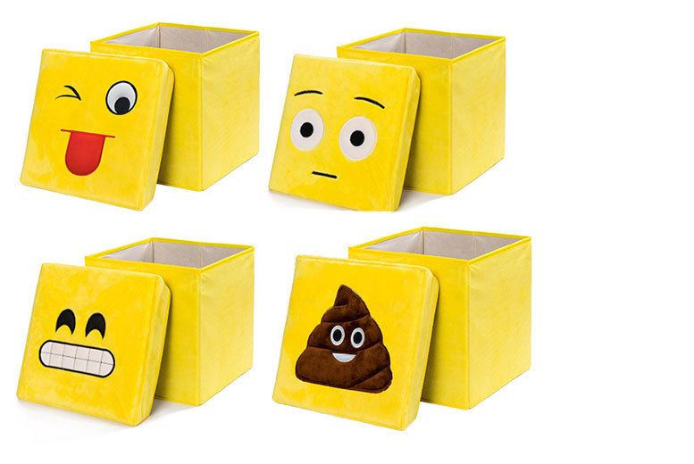 £9.99 instead of £39.99 (from Toy Loco) for a 2-in-1 emoji folding stool and storage box - choose from six classic designs and save 75%