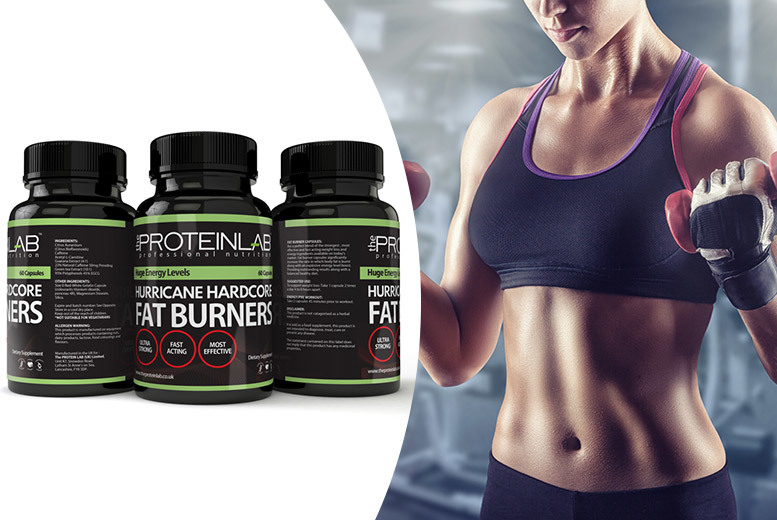£17 instead of £119.97 (from The Protein Lab) for a three-month supply* of Hurricane Hardcore 'fat burners' - save 86%