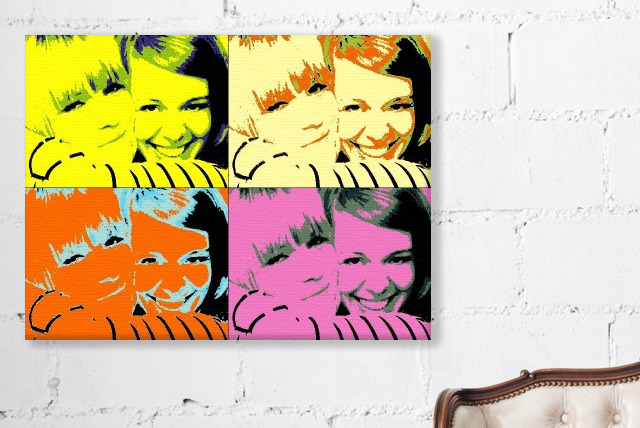 £7.99 instead of £49.93 (from Your Image On Canvas) for a 12inch x 16inch personalised Pop Art photo canvas - save 84%