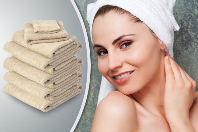 £24.99 instead of £55.49 (from Millprice) for a 7-piece Egyptian cotton bathroom towel set - save a luxurious 55%