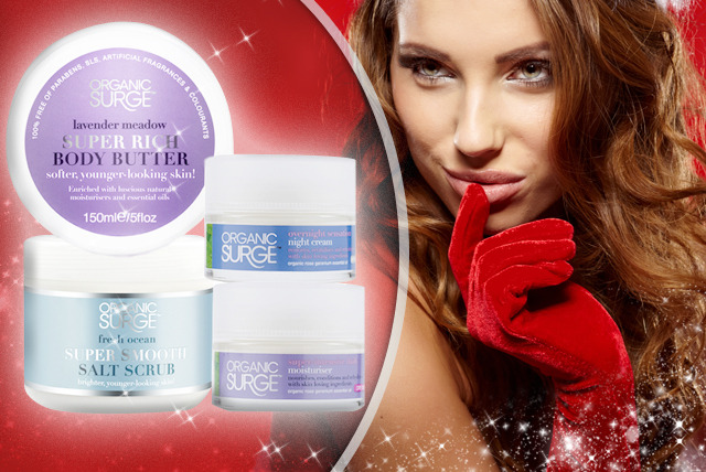 £26.99 instead of £72.48 (from Organic Surge) for a Christmas skincare bundle inc. salt scrub, body butter, moisturiser & night cream - save 63%