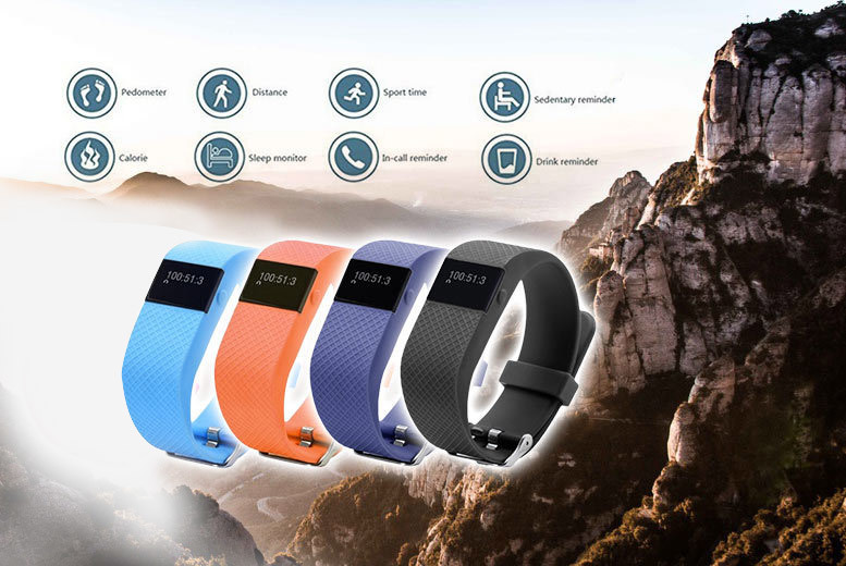 £19.99 (from Ugoagogo) for a next-gen TW64s 8-in-1 Bluetooth sports activity bracelet with heart rate monitor - choose from four colours and save 87%