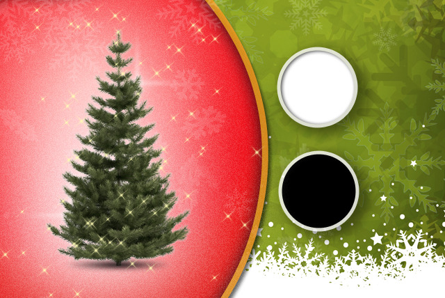 £14.99 for a 6ft faux Christmas tree in green, black or white from UK Home and Garden Store