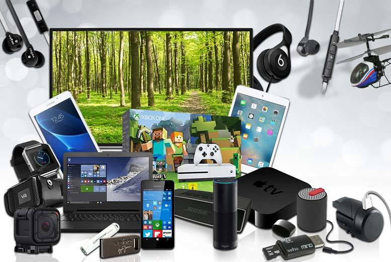 £10 for a Mystery Electronics Deal - Fitbit watch, Samsung Galaxy tablet, Apple TV, Amazon Echo, JVC smart TV, Beats by Dre and more!