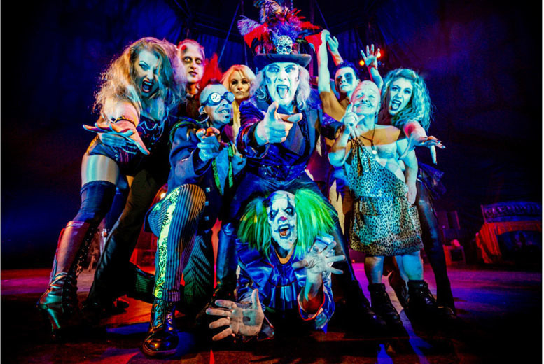 £13.50 instead of £25 for a ticket to Circus of Horrors, 'The Never-Ending Nightmare' in Exeter or £16.50 for a ticket to Plymouth - save up to 46%