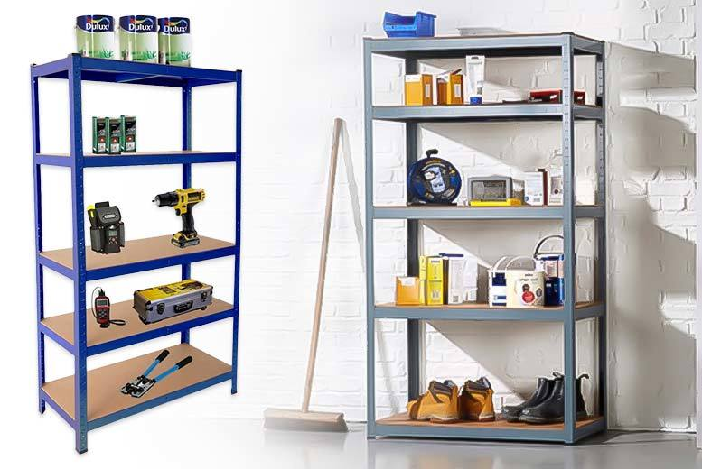 £25 instead of £189.99 (from Ricomex) for a 1.5 metre heavy duty steel 5 tier storage shelves or £30 for a 1.8-metre unit - save up to 87%