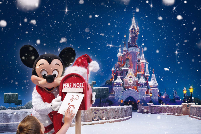 £99 for a Disneyland® Paris Enchanted Christmas trip inc. Disney® day pass and coach travel from 11 UK locations with Coach Innovations - save 34%