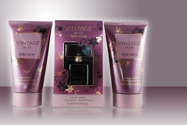 £12.99 instead of £36 (from Cosmetics by Candy) for a Kate Moss Vintage Muse gift set inc. EDT, body lotion & shower cream - save 64% + FREE DELIVERY