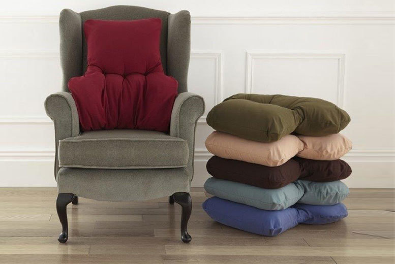 £11 instead of £30 (from Diana Cowpe) for a back support cushion - choose from blue, sand, wine, teal, brown or green and save 63%