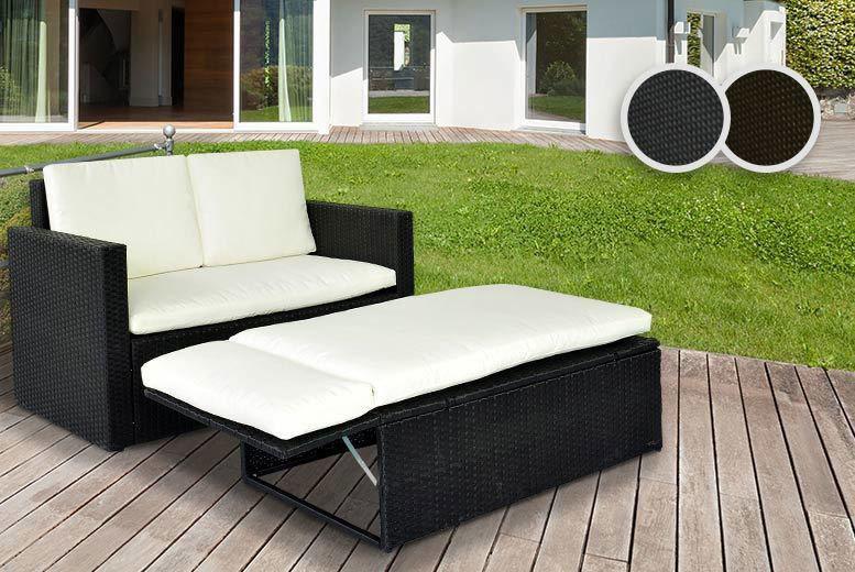 sofa set deals uk ~ 2person rattan love sofa set  2 colours!