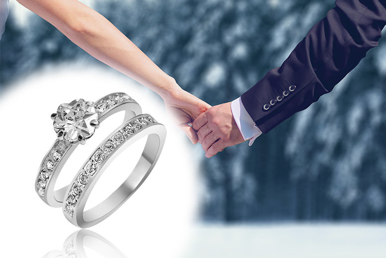 £12 instead of £225 (from Gemnations) for a double ring set with a crystal - save 95%