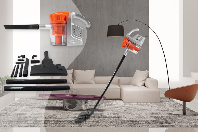 £29.99 instead of £148.99 for a 600W dual cyclone vacuum cleaner with attachments, with a limited number available for just £27 - suck it and save up to 80%