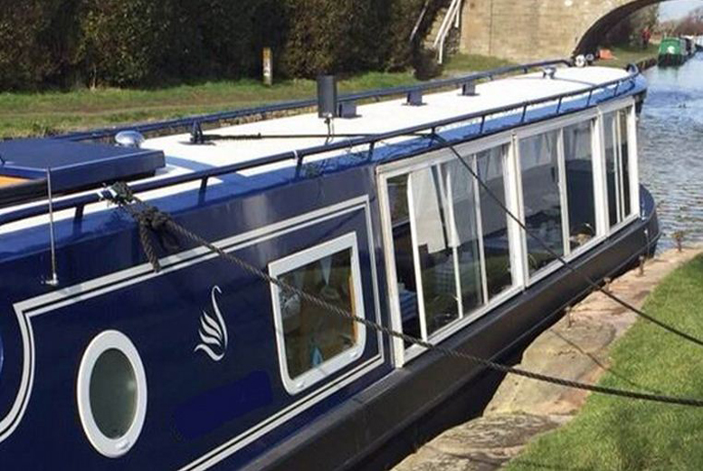 £14 instead of £39 for a canal cruise with afternoon tea for one, £28 for two people or £54 for four people with Blue Swan Boat Hire, Ormskirk - save up to 64%