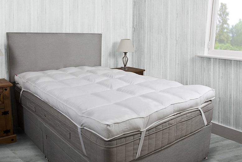 £19 (from Groundlevel) for a 10cm thick microfibre luxury single mattress topper, £24 for a double, £28 for a king or £30 for a superking - save up to 72%