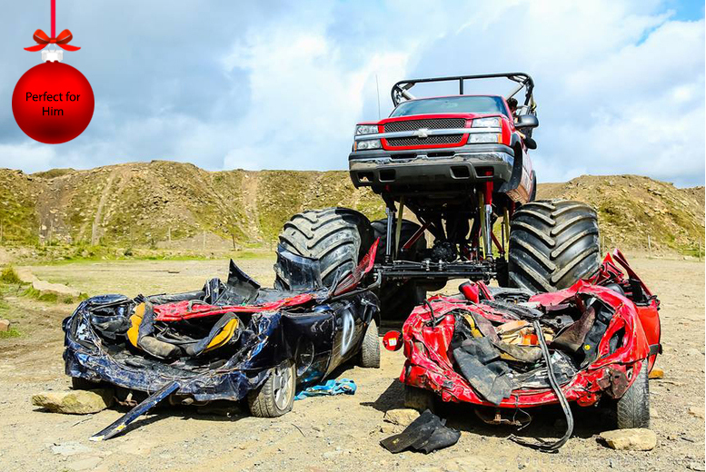 From £19.99 for a monster truck ride experience, from £109 for a monster truck drive experience at Wicked Adventures - save up to 50%