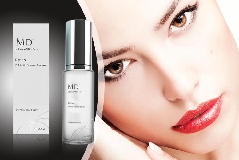 £14.99 instead of £76 (from Look Good Feel Fabulous) for a 30ml MD Retinol & Multi-Vitamin serum - save 80%