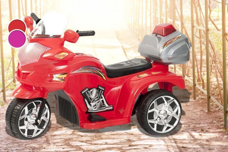£34.99 (from Ebuyer) for a kids' electric police trike in red or pink + DELIVERY INCLUDED!