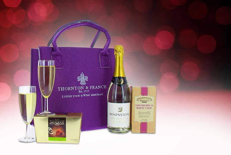 £19 instead of £34.99 for a Valentine's hamper 'for her' including sparkling wine, truffles and more from First4Hampers - save 46%
