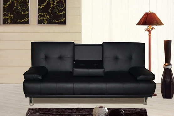 £189 for a Turin faux leather sofa bed in either brown or black from Crazy Price Beds – no more sleepless nights