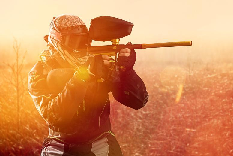 £5 (Nationwide Paintball) for a day of paintballing for up to 5 in a choice of over 60 locations, £9 for up to 10 - save up to 93%