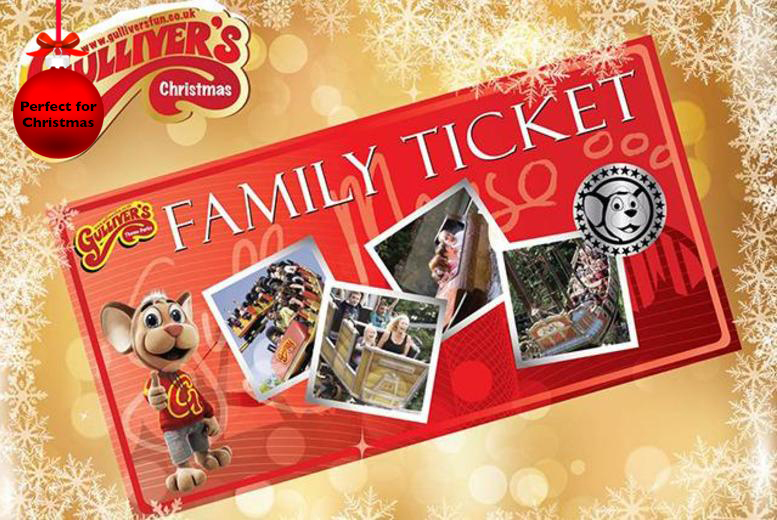 £35 instead of up to £60 for a family ticket to Gulliver's Theme Park in a choice of 3 locations - have a great day out and save up to 42%
