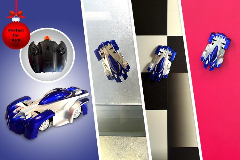 £14.99 instead of £49.99 (from LEDLive) for a remote control wall-climbing racing car - save a car-azy 70%