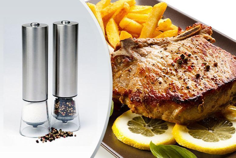 £14 instead of £99.90 (from Jean-Patrique) for a pair of electronic salt and pepper mills - save 86%
