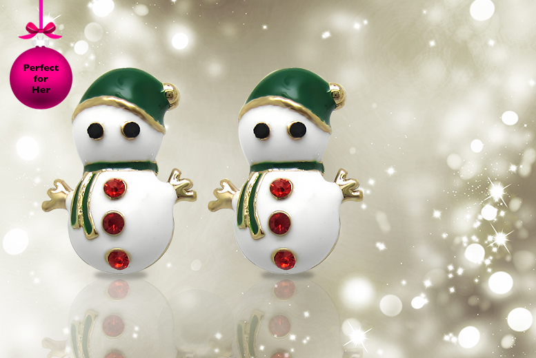 £6 (from Cian Jewels) for a pair of snowman, Christmas tree or Santa earrings made with Swarovksi Elements, or £15 for all three - save up to 83%