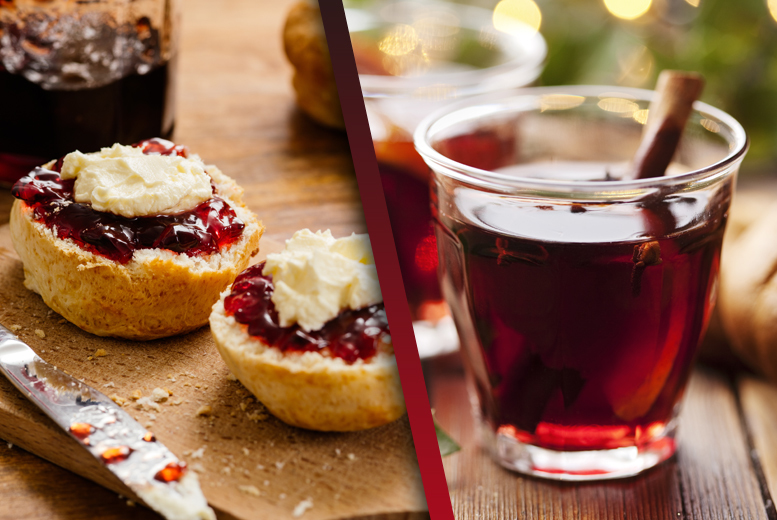£12 instead of £24 for a Christmas afternoon tea for 2, or £15 inc. mulled wine at The Kitchen Door Café, Battersea - save up to 50%