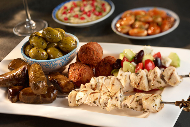 £17 instead of up to £48 for 8 hot or cold mezze dishes for 2 plus a glass of house wine each at Karaam, Ealing - save up to 65%