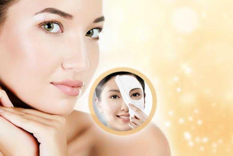 £5 instead of £49.95 (from SalonBoxed) for 5 luxury collagen face masks, £8 for 10 - save up to 90%