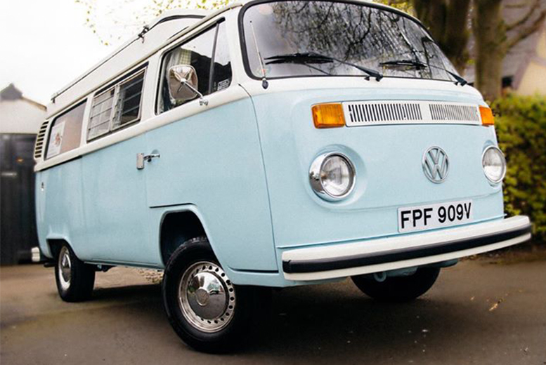 £149 instead of up to £395 for a 3-night midweek or weekend retro VW camper van hire from Chase The Sun - save up to 62%